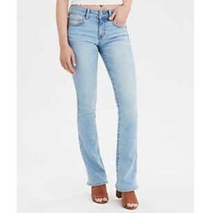 American Eagle Light Wash Kickboot Jeans